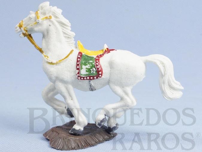 Brinquedo antigo Cavalo de Cowboy branco Série Heróis Década de 1970