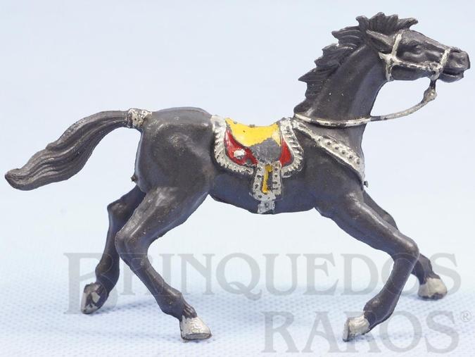 Brinquedo antigo Cavalo de Cowboy Cinza escuro