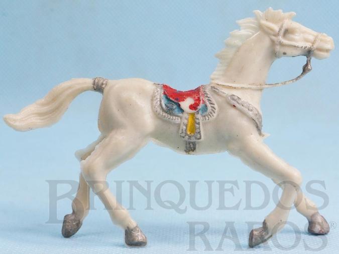 Brinquedo antigo Cavalo de Cowboy branco Casablanca numerado 4