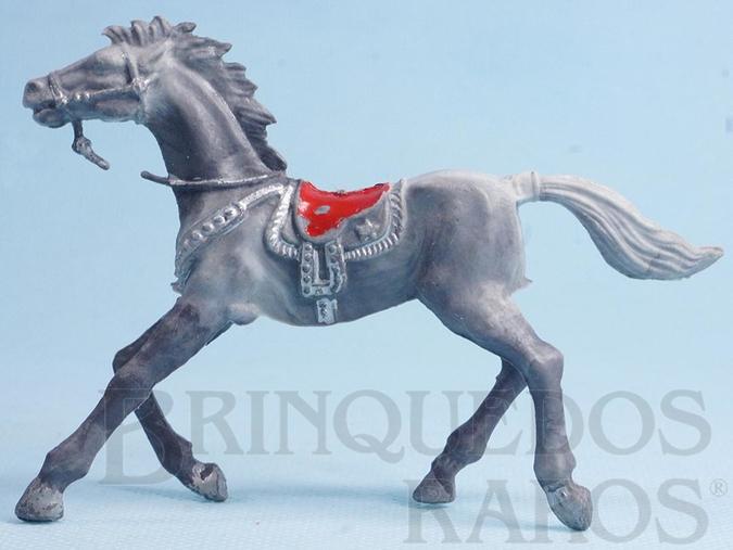 Brinquedo antigo Cavalo de Cowboy cinza malhado Rédeas com erro de Fábrica