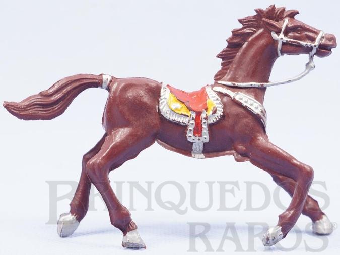 Brinquedo antigo Cavalo de Cowboy Marrom