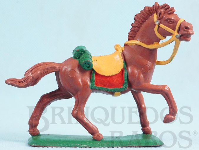 Brinquedo antigo Cavalo de Cowboy marrom Ano 1986