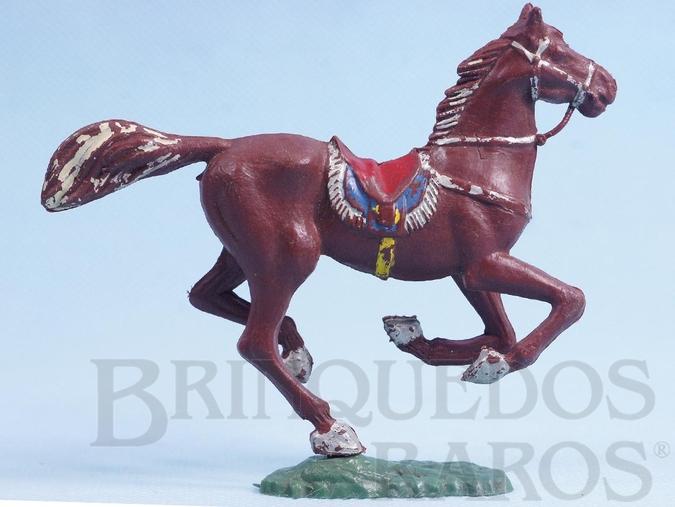 Brinquedo antigo Cavalo de Cowboy marrom Casablanca numerado 156