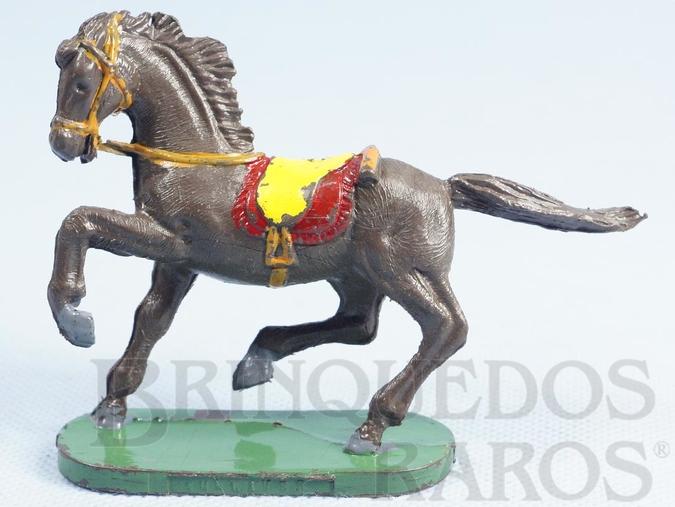 Brinquedo antigo Cavalo de Cowboy marrom escuro Série Forte Arizona Década de 1970