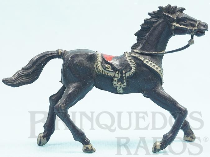 Brinquedo antigo Cavalo de Cowboy Preto