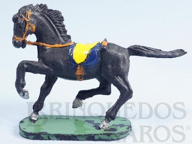 Brinquedo antigo Cavalo de Cowboy preto Série Forte Arizona Década de 1970