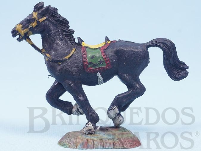 Brinquedo antigo Cavalo de Cowboy preto Série Heróis Década de 1970