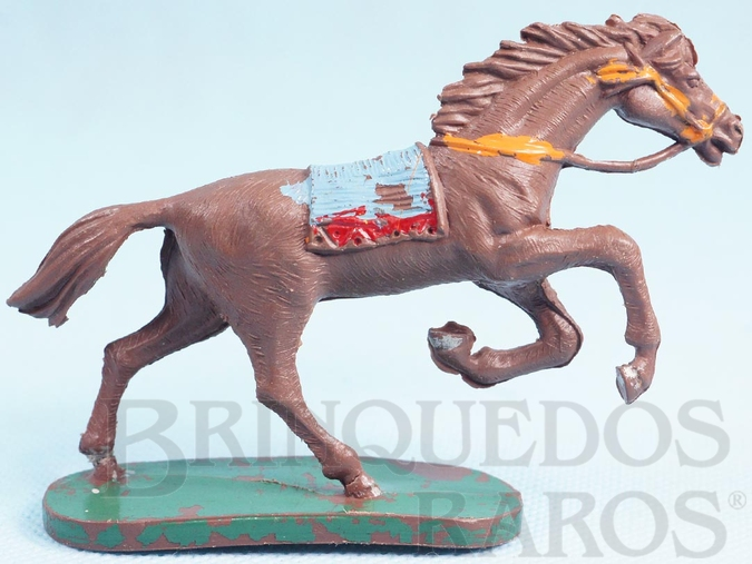 Brinquedo antigo Cavalo Índio Série Forte Arizona Coleção Miguel Cerrato Década de 1970