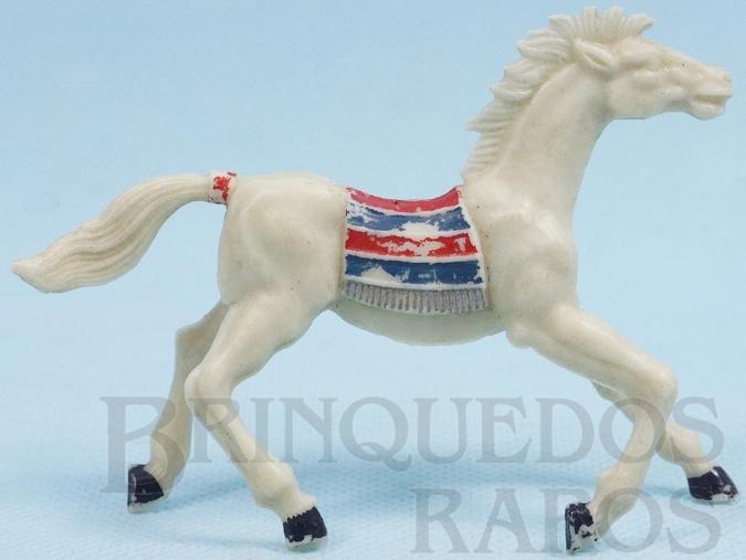 Brinquedo antigo Cavalo índio branco