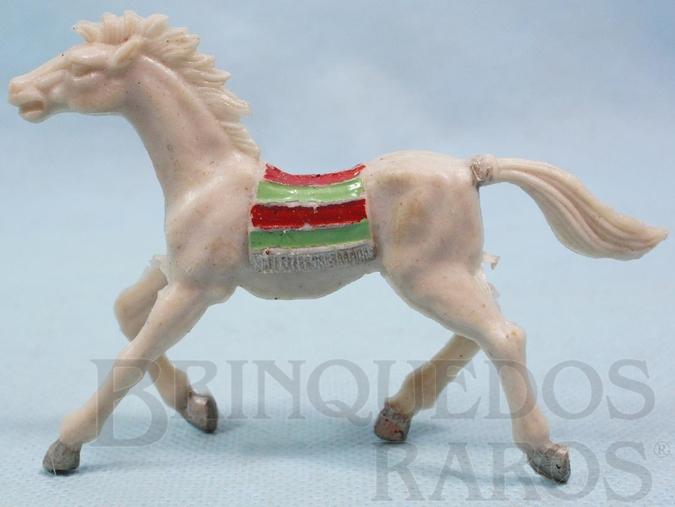 Brinquedo antigo Cavalo índio cinza claro Casablanca numerado 10