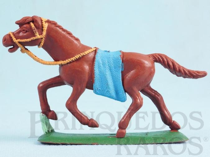 Brinquedo antigo Cavalo índio marrom Ano 1986