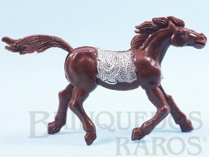 Brinquedo antigo Cavalo índio marrom com 10,00 cm de altura Década de 1970