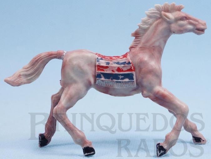 Brinquedo antigo Cavalo Índio marrom malhado Década de 1960