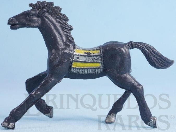 Brinquedo antigo Cavalo índio preto