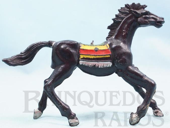 Brinquedo antigo Cavalo índio preto Casablanca numerado 10