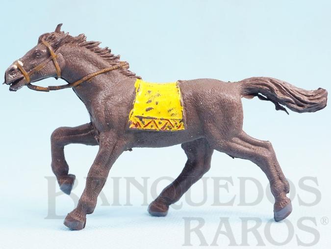 Brinquedo antigo Cavalo Índio Série Planície Selvagem Coleção Miguel Cerrato Década de 1970