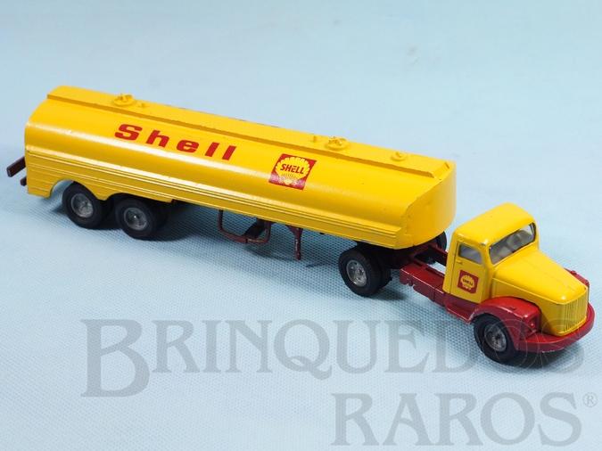 Brinquedo antigo Cavalo Mecânico Scania Vabis L111 com carreta Shell