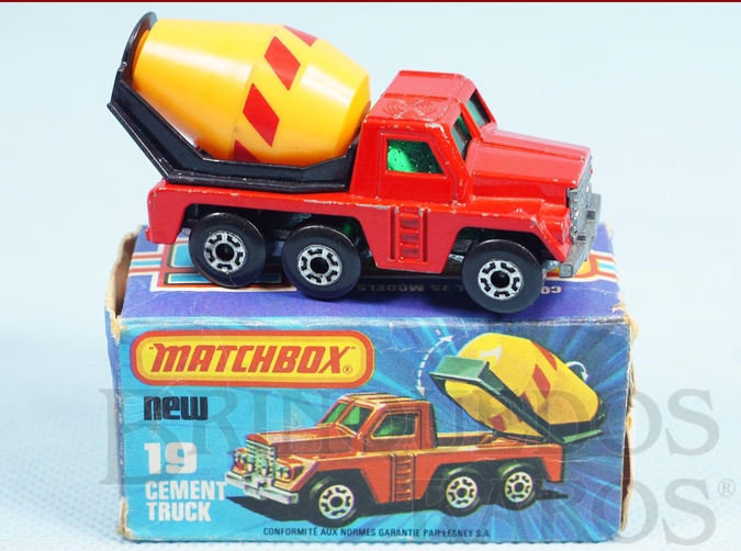 Brinquedo antigo Cement Truck Superfast Yellow Barrel
