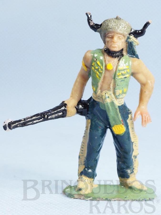 Brinquedo antigo Chefe índio de pé com rifle Chefe Touro Sentado Casablanca numerado 100