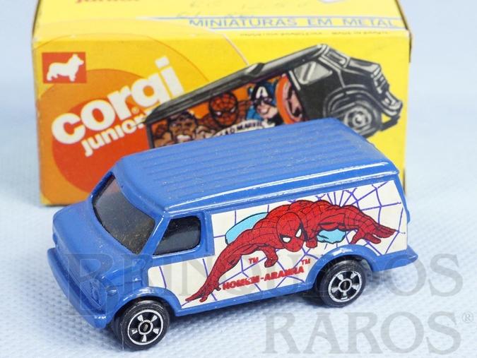 Brinquedo antigo Chevrolet Van Homem Aranha Brazilian Corgi Jr Kiko Década de 1980