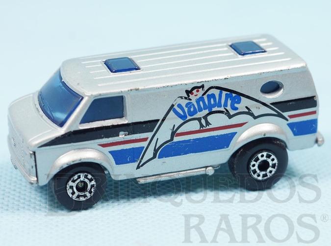 Brinquedo antigo Chevy Van Superfast prata Vanpire