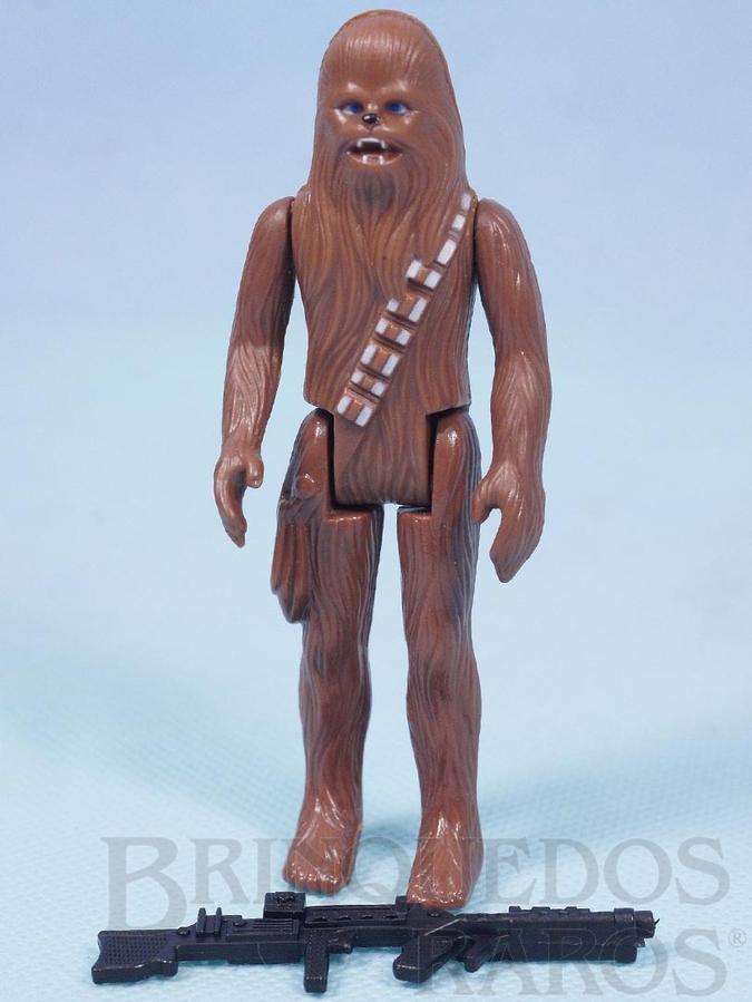 Brinquedo antigo Chewbacca Star Wars Lucas Film perfeito estado completo com Arma Década de 1980