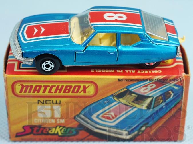 Brinquedo antigo Citroen SM Superfast azul metálico numero 8