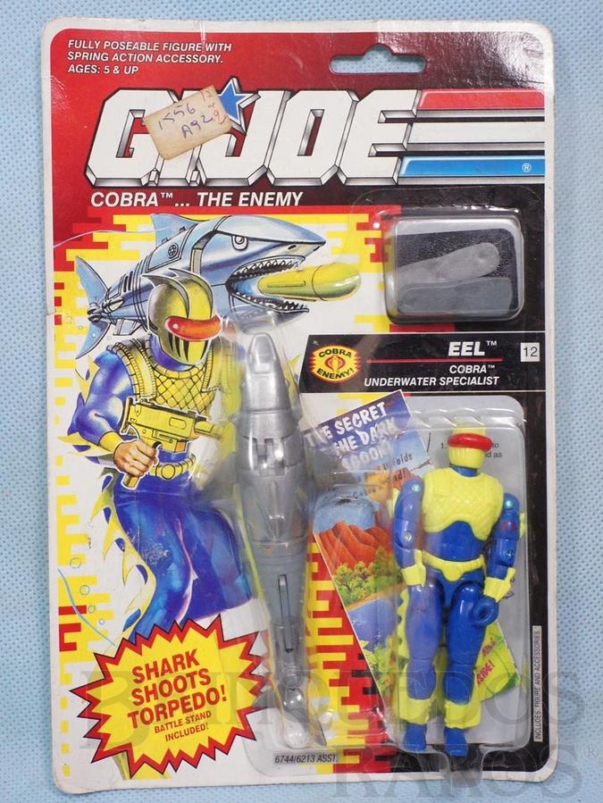 Brinquedo antigo Cobra Eel completo Blister lacrado Ano 1991
