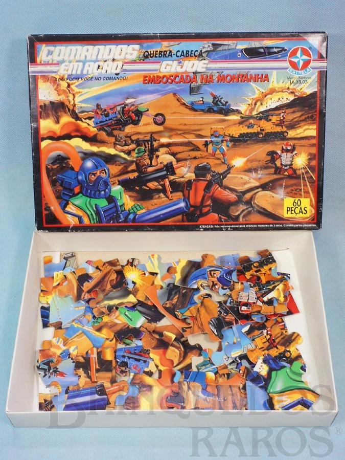 Brinquedo antigo Comandos em Ação Quebra Cabeça Emboscada na montanha Década de 1980