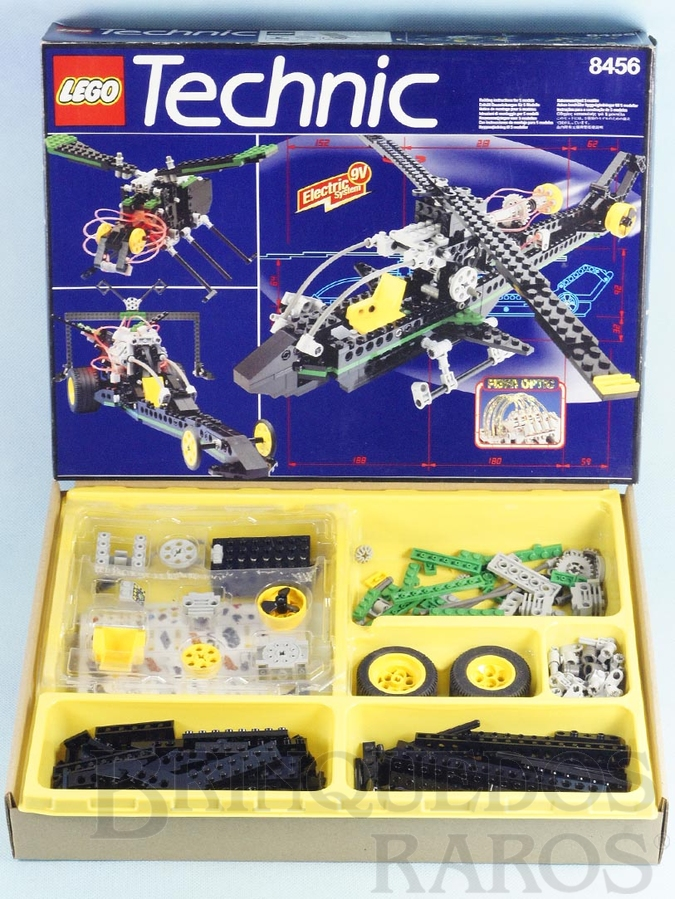 Brinquedo antigo Conjunto 8456 Lego Technic para construir diversos Veículos Completo com Caixa de Pilhas iluminação por Fibra Óptica e manual Ano 1997