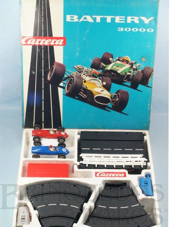 Brinquedo antigo Conjunto Battery 30000 Completo com dois carros Ferrari Formula 2 Shark Nose Década de 1960