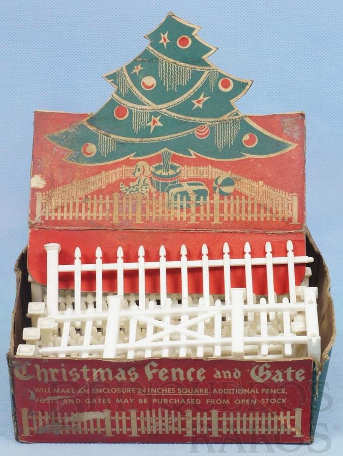 Brinquedo antigo Conjunto com 16 Cercas para colocar em Arvores de Natal Década de 1950