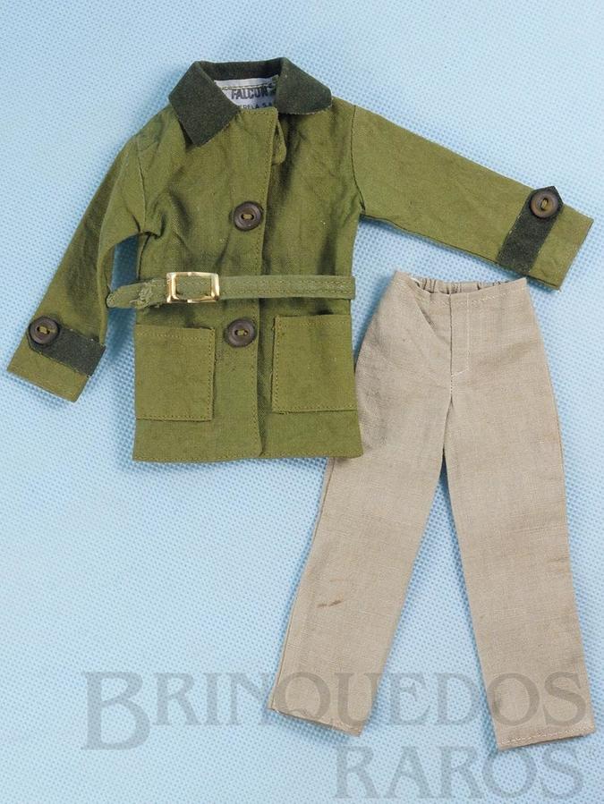 Brinquedo antigo Conjunto de Jaqueta cinto e calça do Boneco Ruivo com Barba Anos 1979 e 1980