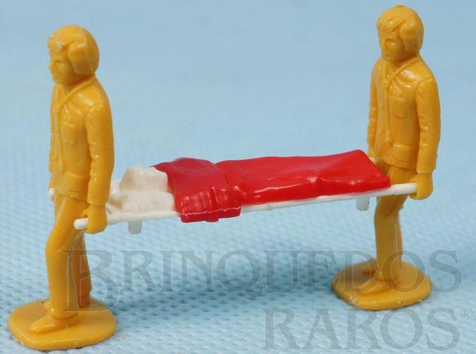 Brinquedo antigo Conjunto de Maca e dois Enfermeiros para a Ambulância M49 Ambulance Super King
