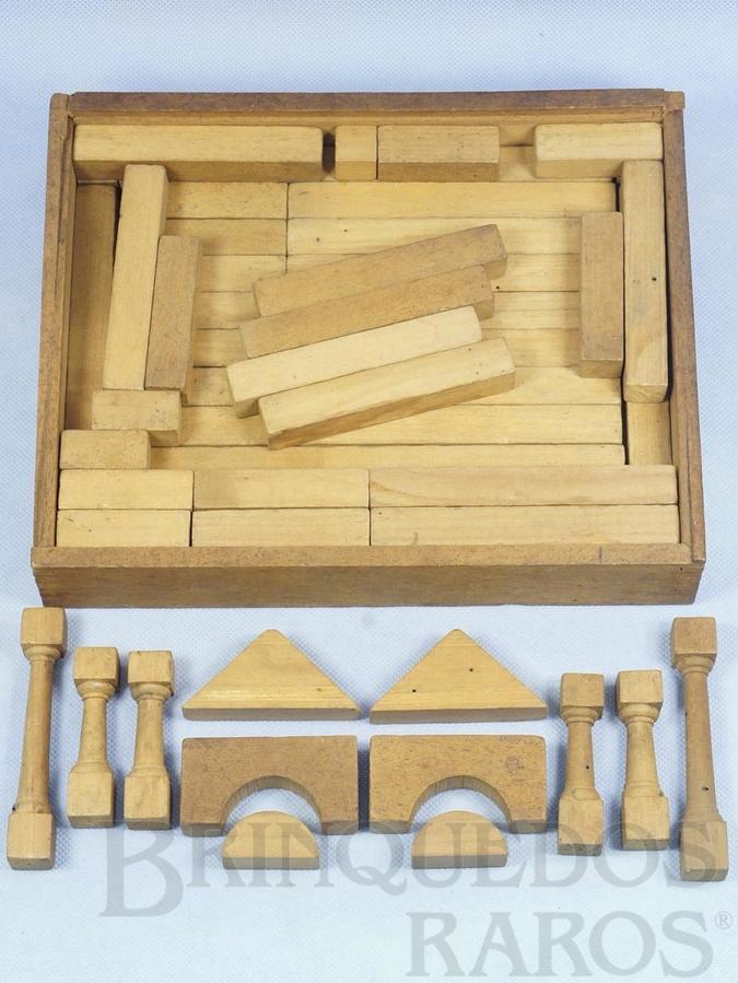 Brinquedo antigo Conjunto de Montar Caixa com 27,0 x 21,0 cm 51 peças Década de 1950