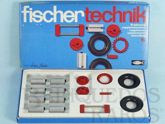 Brinquedo antigo Conjunto de Montar Fischer Technik número 15 Década de 1970