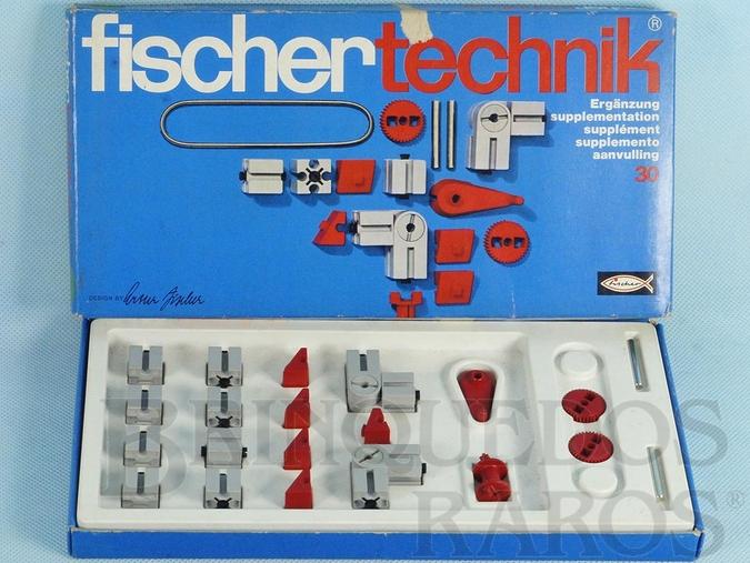 Brinquedo antigo Conjunto de Montar Fischer Technik número 30 Década de 1970