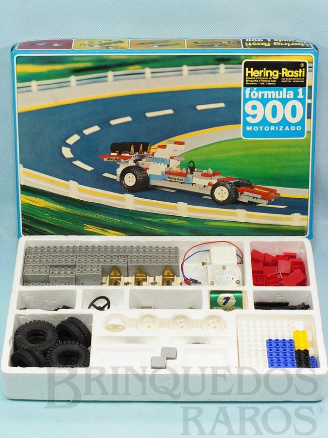 Brinquedo antigo Conjunto de Montar Fórmula 1 motorizado Completo com 290 peças Década de 1970