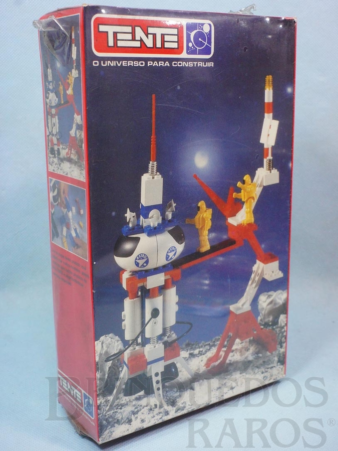 Brinquedo antigo Conjunto de montar Tente Foguete Espacial com Torre de Lançamento Caixa Lacrada Década de 1980