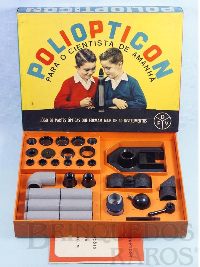 Brinquedo antigo Conjunto de Partes Opticas Poliopticon Completo perfeito estado Segunda Série Década de 1960
