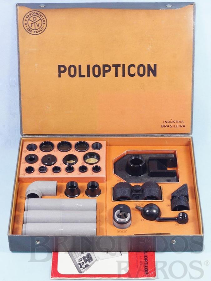 Brinquedo antigo Conjunto de Partes Opticas Poliopticon Completo perfeito estado Primeira Série Década de 1960