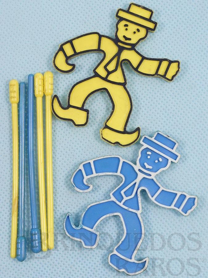 Brinquedo antigo Conjunto de peças para o Jogo Segure se Puder Década de 1970