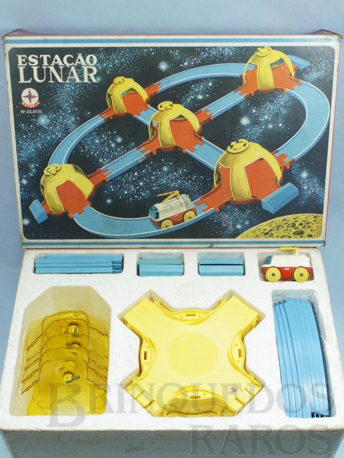 Brinquedo antigo Conjunto Estação Lunar completo Perfeito estado Ano 1970