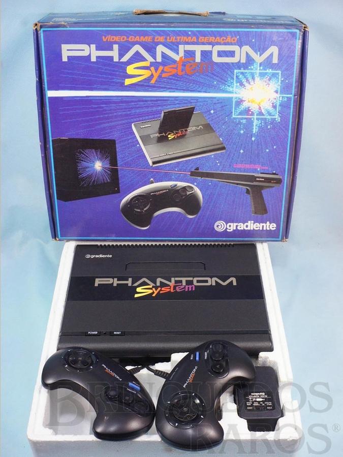 Brinquedo antigo Console Phantom System Completo sem Cartucho e sem  Manuais 100% original Perfeito estado com mesmo Número Serial Ano 1989