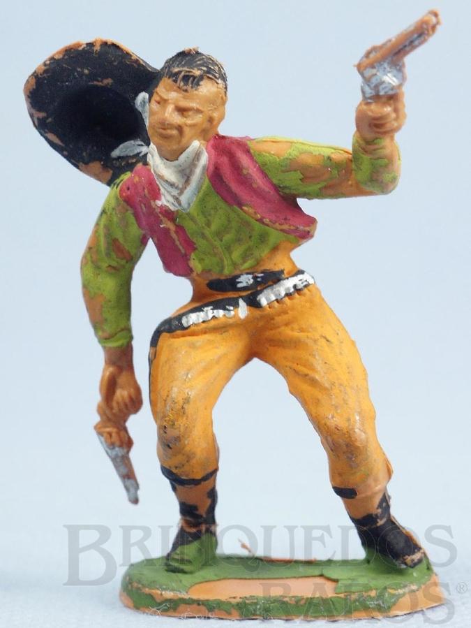 Brinquedo antigo Cowboy baleado Gulliver Década de 1970
