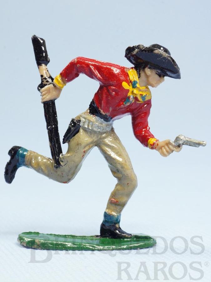 Brinquedo antigo Cowboy Correndo com rifle e revolver Casablanca numerado 122 Década de 1960