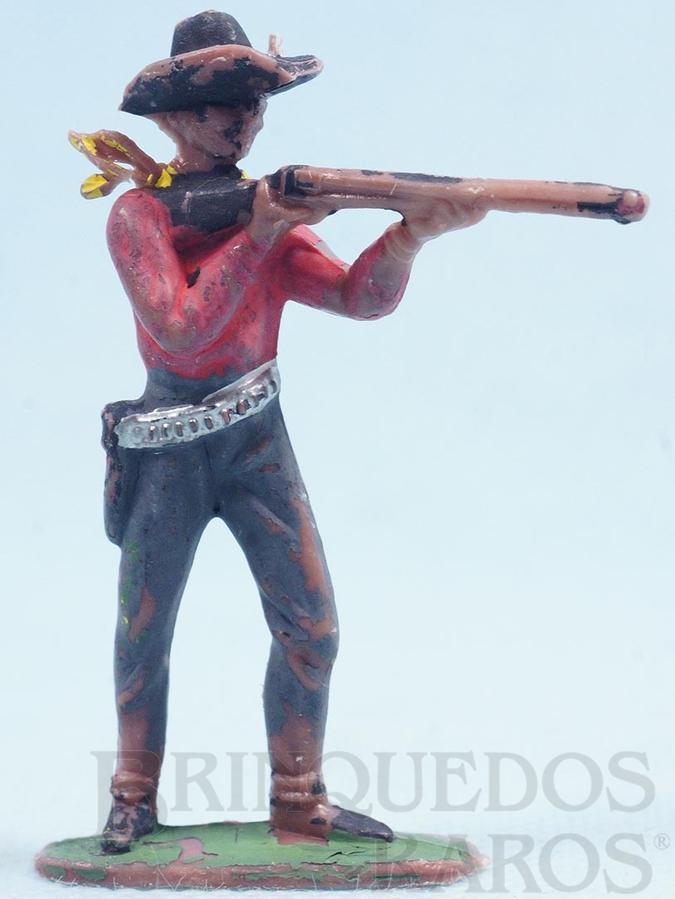 Brinquedo antigo Cowboy de pé atirando com rifle Cowboy Atirador Gulliver