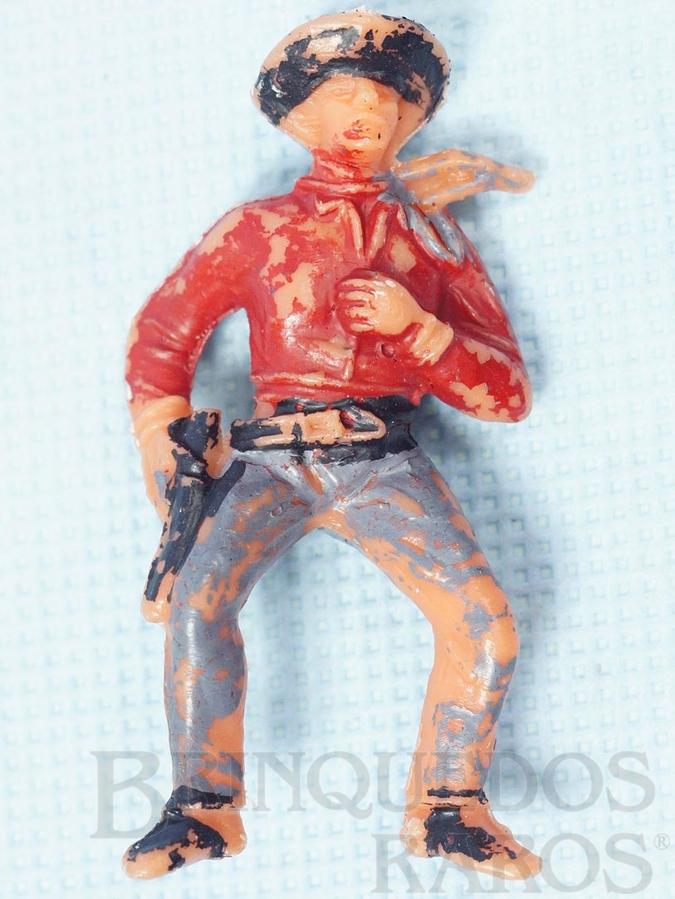 Brinquedo antigo Cowboy montado a Cavalo Gulliver numerado 127 Década de 1970