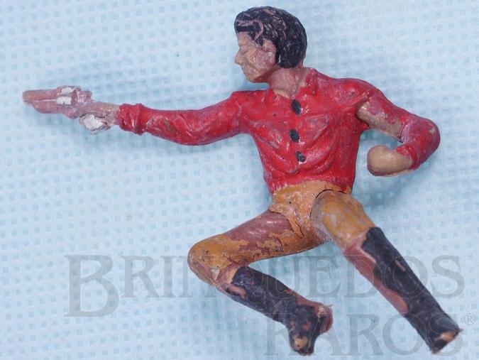 Brinquedo antigo Cowboy Sentado atirando com revolver Casablanca Numerado 130