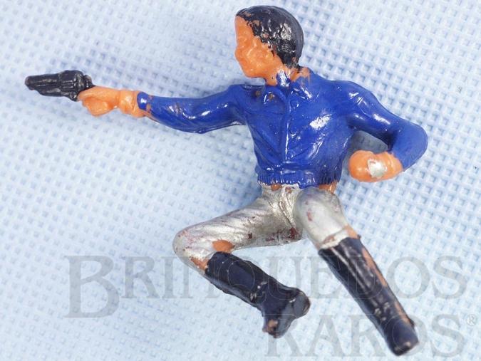 Brinquedo antigo Cowboy Sentado atirando com revolver Casablanca Numerado 130 Distribuído pela Viocena para a Diligencia Série Gunsmoke
